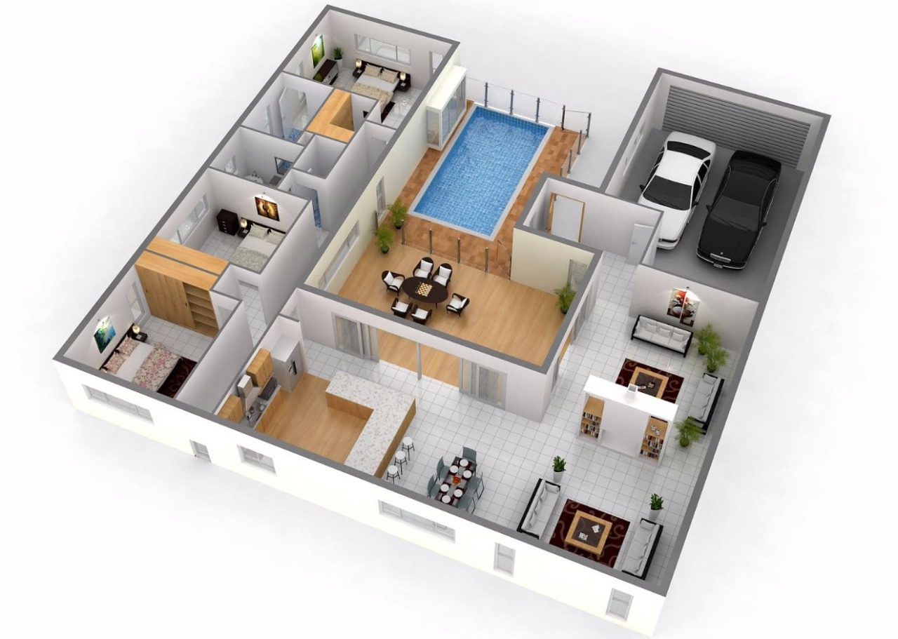 Planos de casas modernas en 3d con cochera - The five star student dormitories boutique style spoil ...
