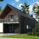 Plano casa dos pisos sencilla Argentina