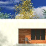 Plano casa minimalista 2 dormitorios