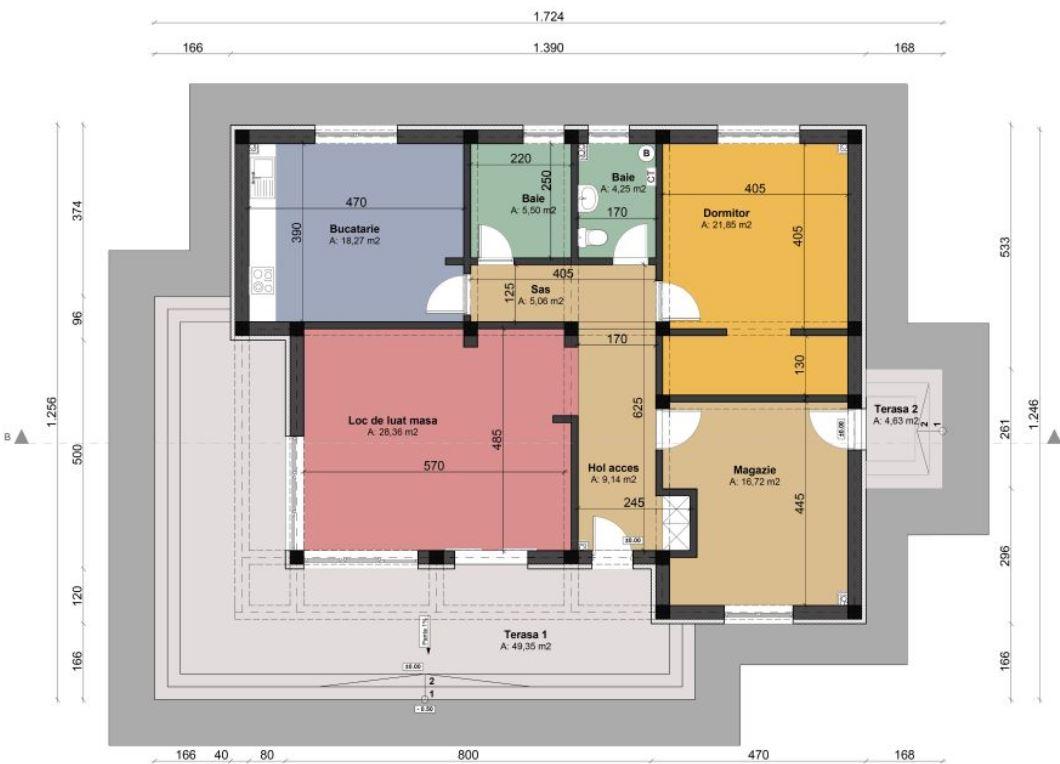 Plano casa minimalista 2 dormitorios for Casa minimalista planos