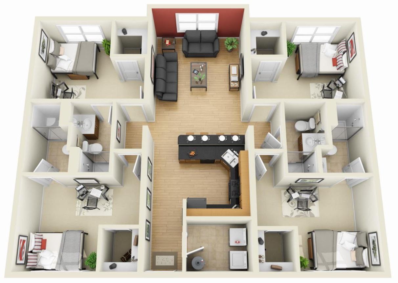 planos-de-apartamentos-4-habitaciones