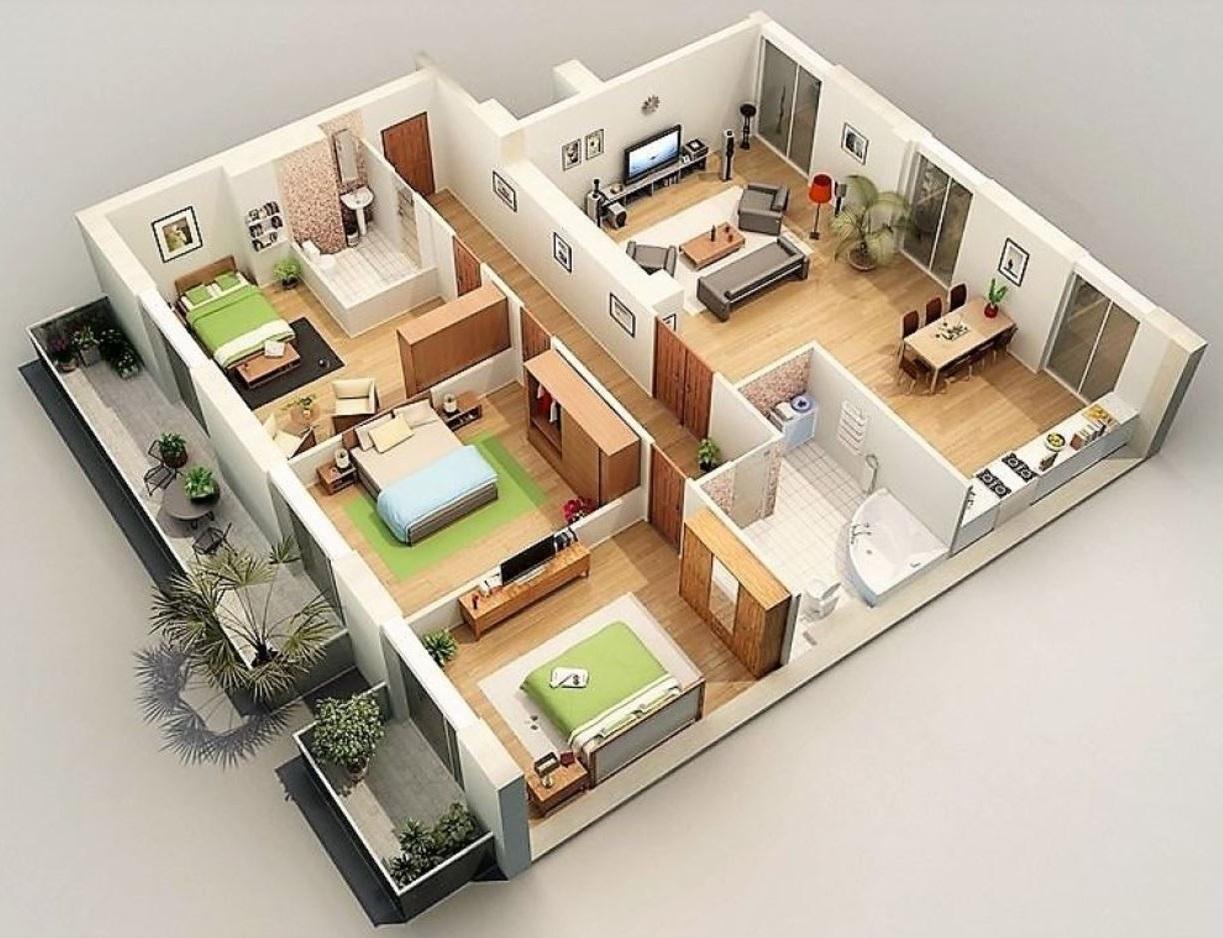 planos-de-apartamentos-modernos
