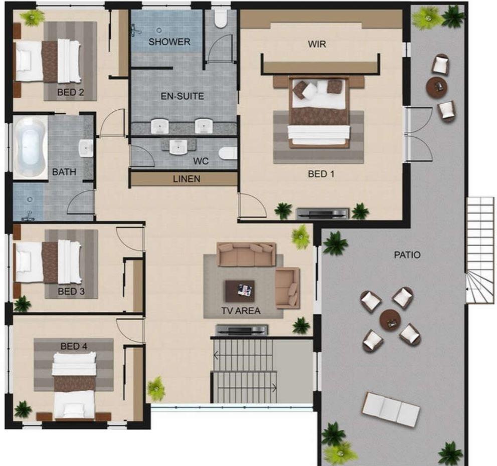 planos-de-casas-con-4-recamaras