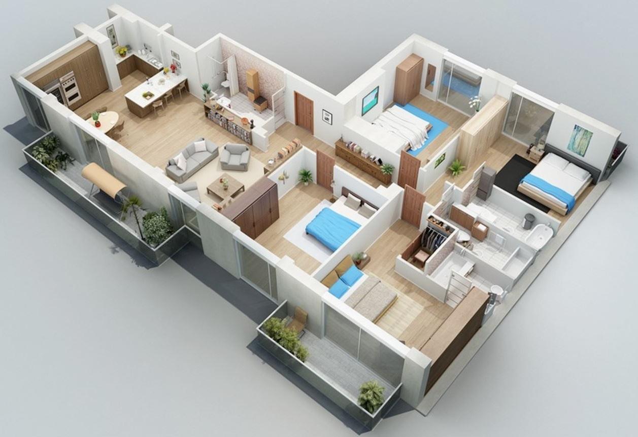 planos-de-casas-de-un-piso-4-dormitorios-3-banos