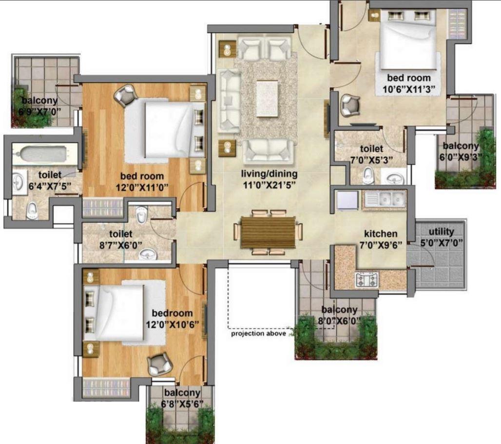 planos-de-casas-grandes-forma-irregular