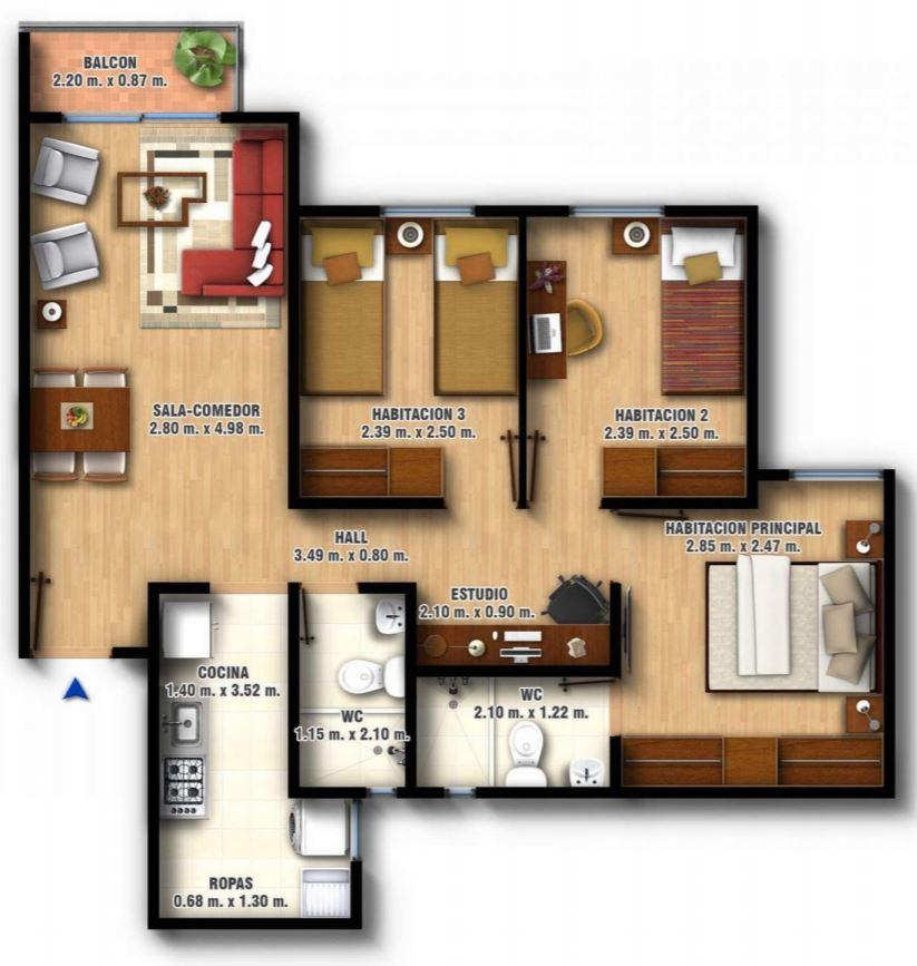 planos-de-departamentos-con-medidas-de-las-habitaciones