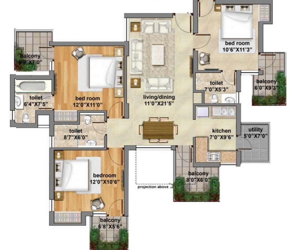 planos-de-departamentos-en-condominio-con-medidas