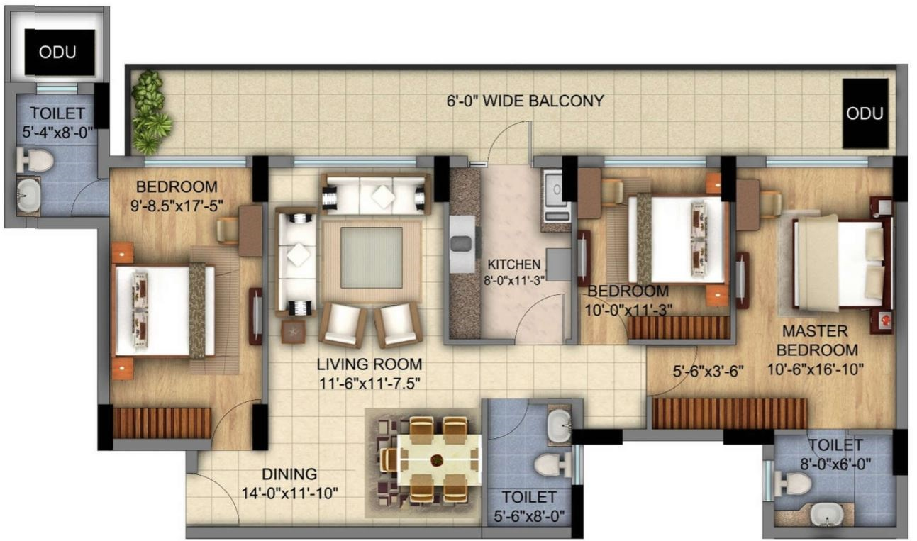 planos-de-viviendas-de-3-habitaciones