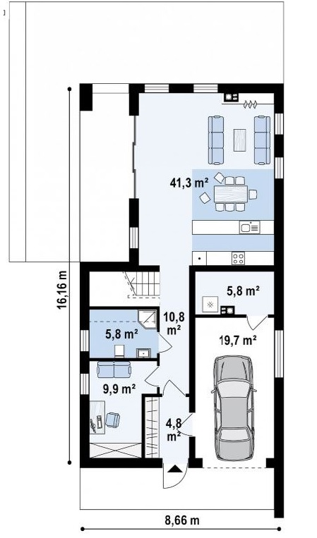 plano-de-casa-moderna-de-8x16-metros