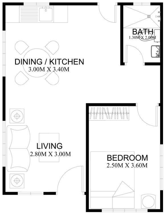 casa-con-un-cuarto-bano-sala-comedor
