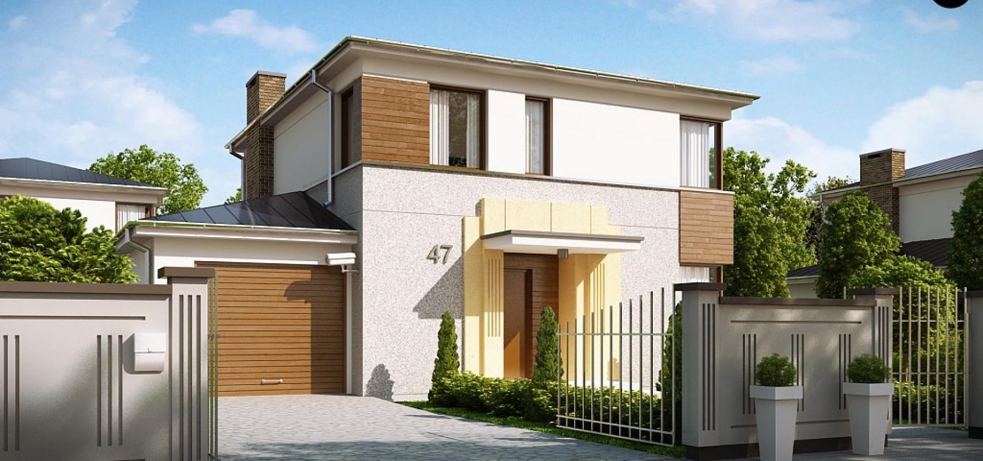 fachada-para-casa-de-dos-pisos-con-cochera-y-tres-dormitorios