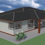 Plano de casa de 150 metros con 3 dormitorios