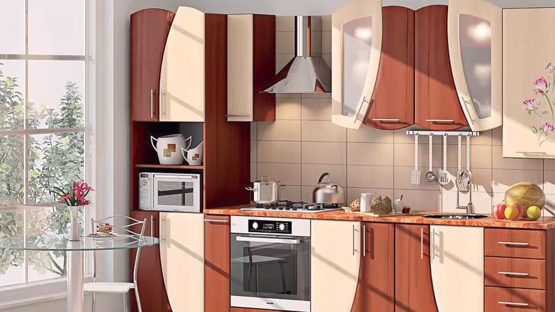 cocina-moderna-y-pequena
