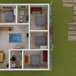 Casa de 10×10 Plano con medidas
