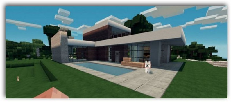 Como decorar tu casa moderna en minecraft for Casa moderna minecraft pe 0 10 5